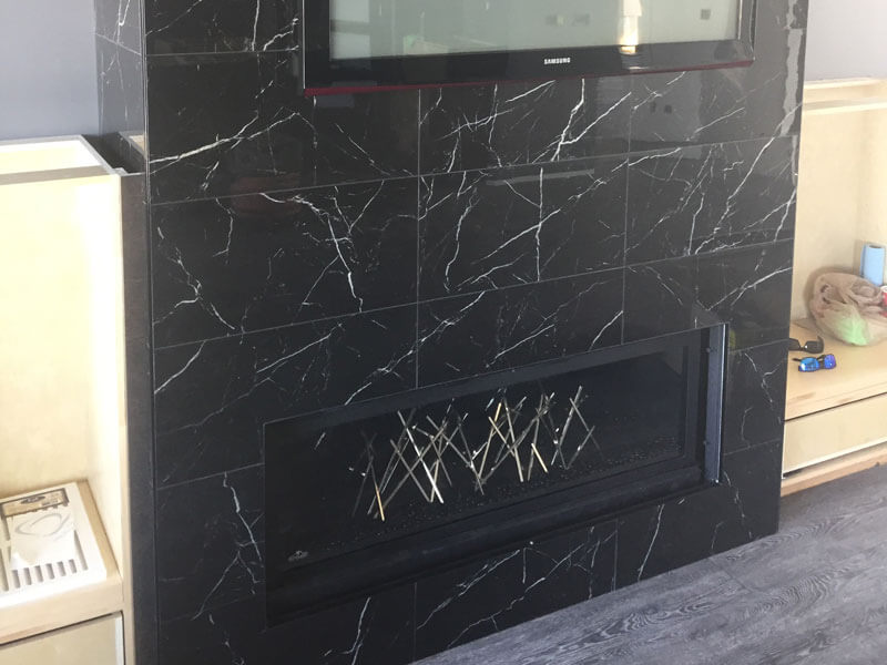 Dark Marble Chimney Column
