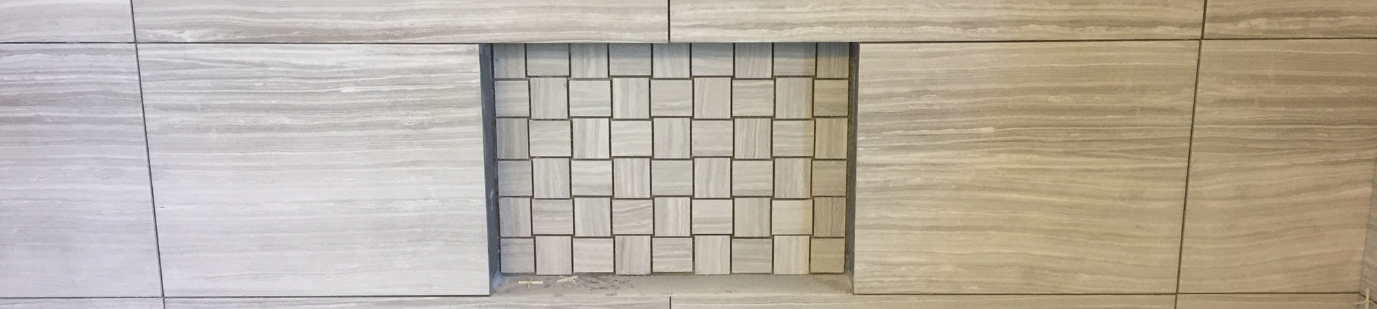 Shower Tile with Soap Shelf