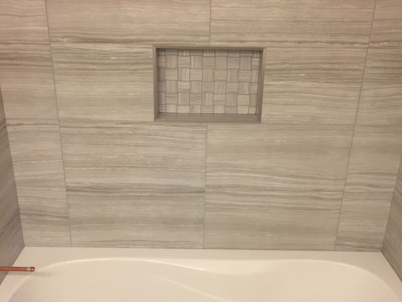 Tub and Tile Wall